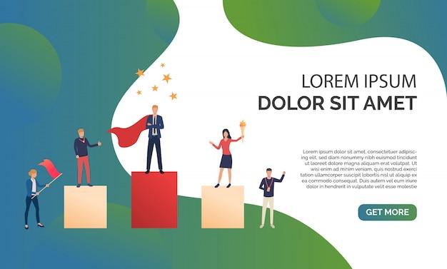 Ilustración de presentación de negocios verde vector gratuito