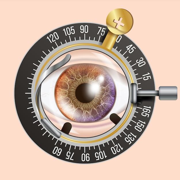 Ilustración de prueba ocular Vector Premium
