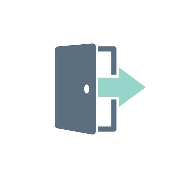 Ilustración de la puerta de salida vector gratuito