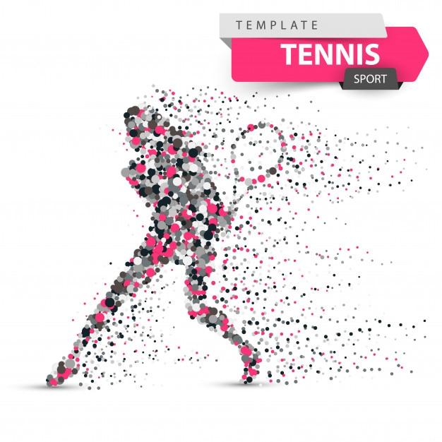 Ilustración de punto de tenis grande Vector Premium