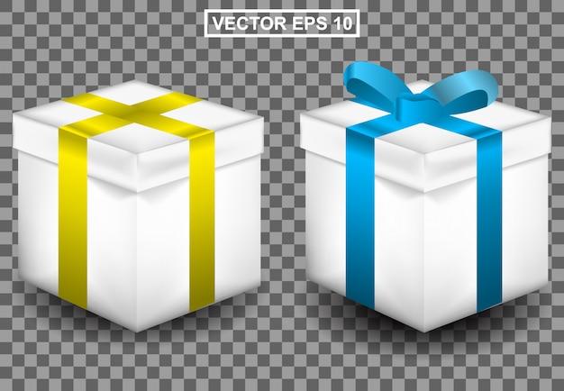 Ilustración realista 3d de regalo para cumpleaños o navidad Vector Premium