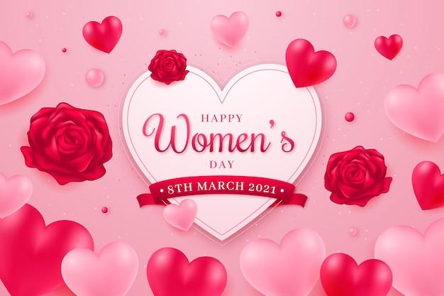 Ilustración realista del día internacional de la mujer. Vector Premium