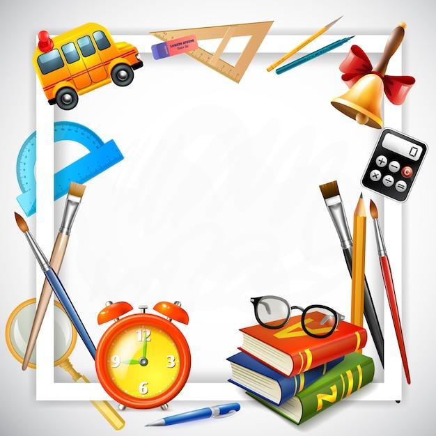 Ilustración realista de regreso a la escuela vector gratuito