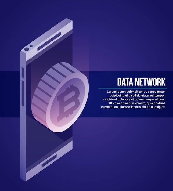 Ilustración de red de datos vector gratuito