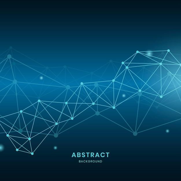 Ilustración de la red neuronal azul vector gratuito