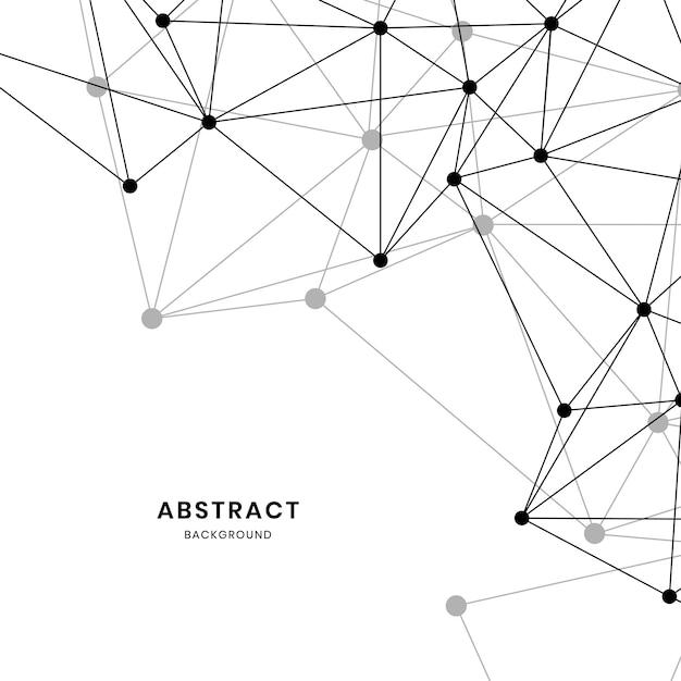 Ilustración de red neuronal blanca vector gratuito