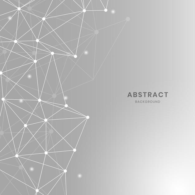 Ilustración de red neuronal gris vector gratuito