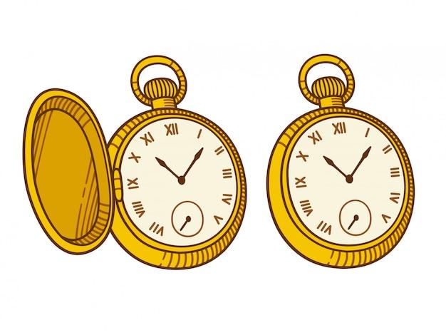 Imágenes De Reloj De Bolsillo Dibujo Vectores Fotos De Stock Y Psd Gratuitos