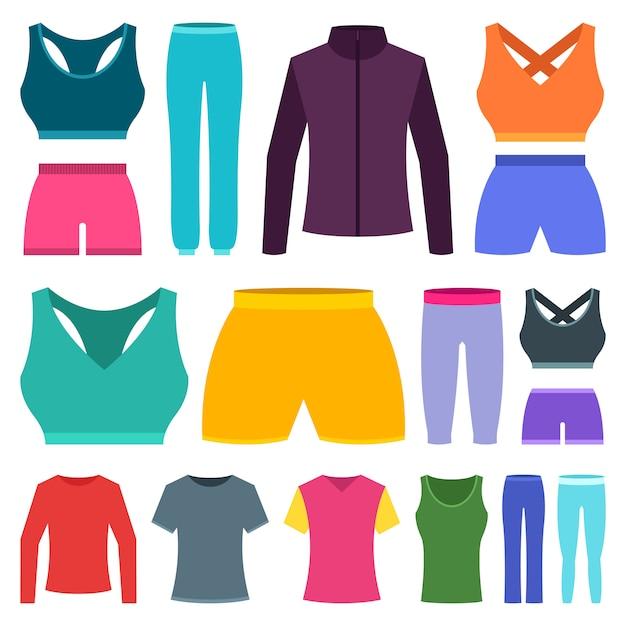 Ilustración de ropa deportiva de mujer sobre fondo blanco | Vector Premium