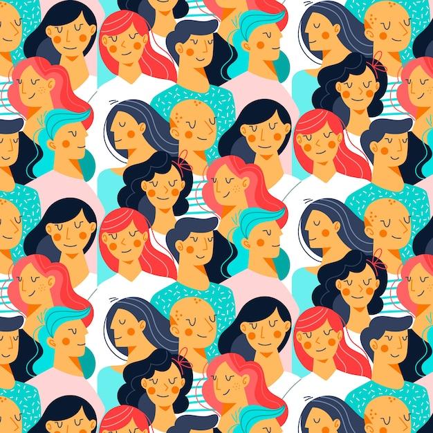 Ilustración de rostros de mujeres vector gratuito