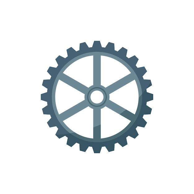 Ilustración de una rueda dentada vector gratuito
