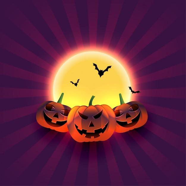 Ilustración de saludo de festival de truco o trato de halloween vector gratuito