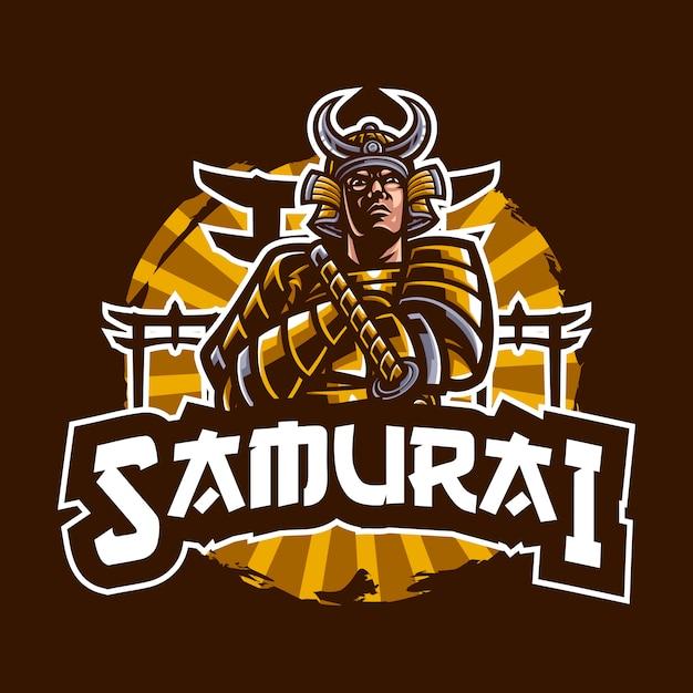 Ilustración de samurai Vector Premium