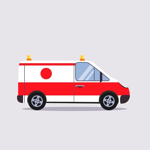 Ilustración de seguro y ambulancia Vector Premium