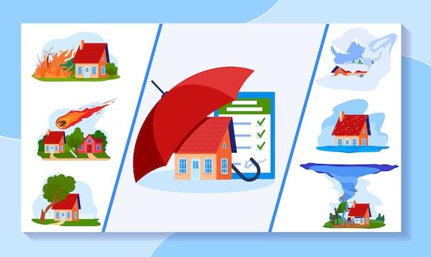 Ilustración de seguros. Vector Premium