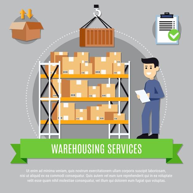 Ilustración de servicios de almacén vector gratuito