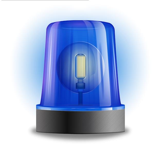 Ilustración de sirena intermitente vector gratuito
