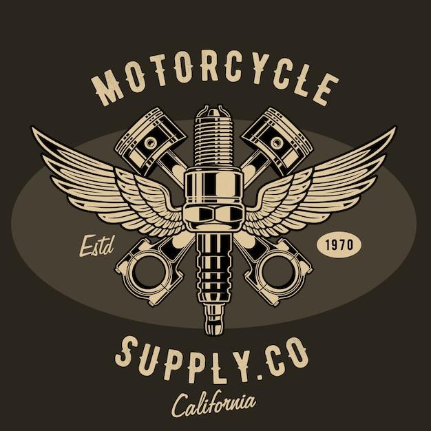 Ilustración de suministro de motocicleta Vector Premium