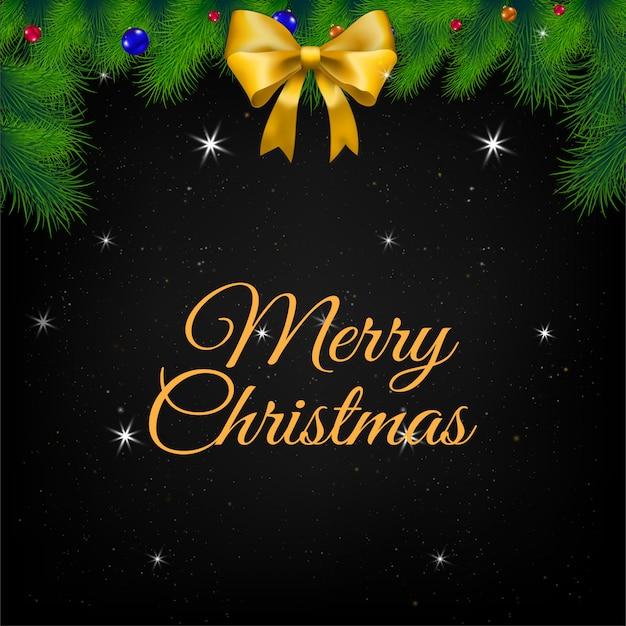 Ilustración de tarjeta de felicitación de navidad. Vector Premium