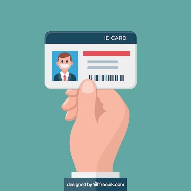 Ilustración de tarjeta identificativa vector gratuito