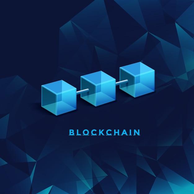Ilustración de tecnología blockchain Vector Premium
