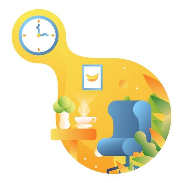 Ilustración de tiempo de relax Vector Premium