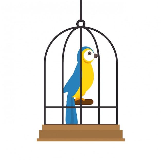 Ilustración de la tienda de mascotas de aves vector gratuito