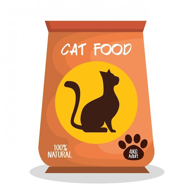 Ilustración de la tienda de mascotas gato vector gratuito