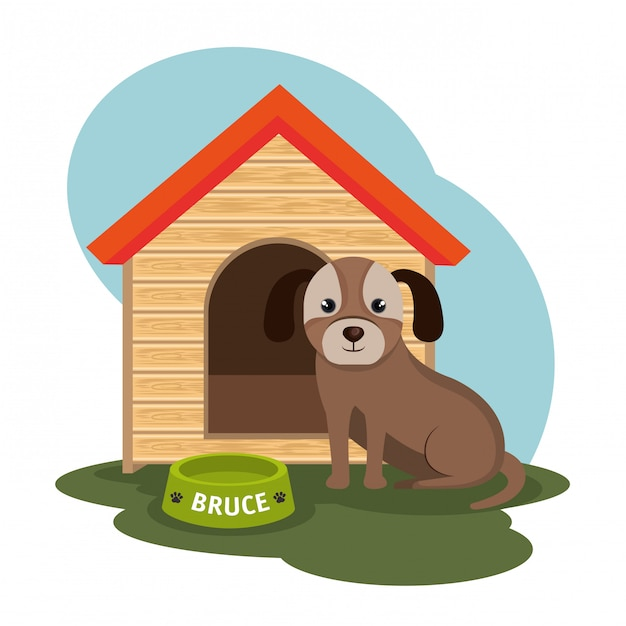 Ilustración de la tienda de mascotas para perros vector gratuito