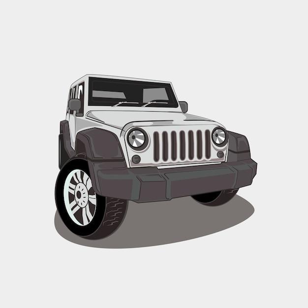 Ilustración de todoterreno 4x4 Vector Premium
