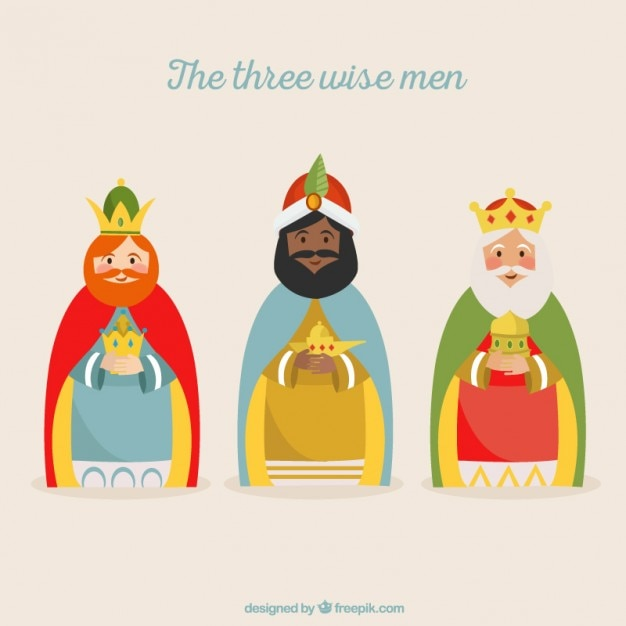 Imagenes Tres Reyes Magos Gratis.Ilustracion De Los Tres Reyes Magos Descargar Vectores Gratis