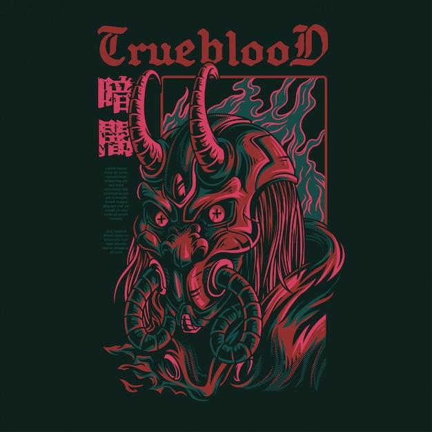 Ilustración de true blood Vector Premium
