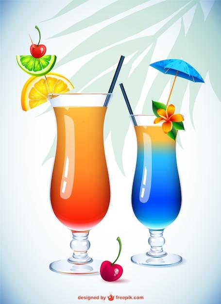 Ilustraci n vasos de c ctel descargar vectores gratis for Vasos de coctel