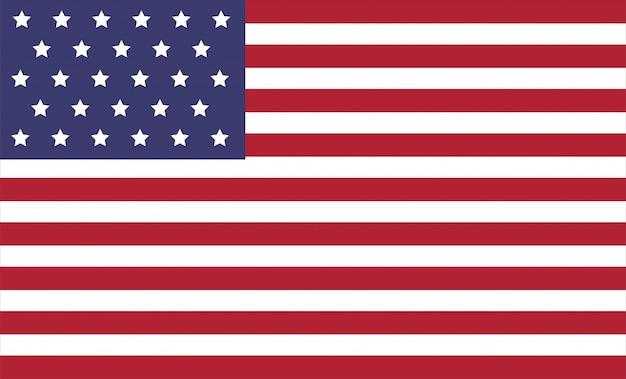 Ilustración de vector de bandera de américa. Vector Premium