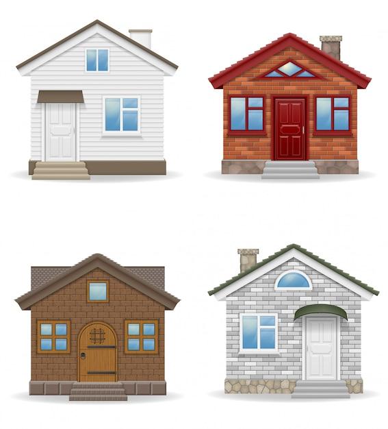 Ilustración de vector de casa de campo pequeña Vector Premium