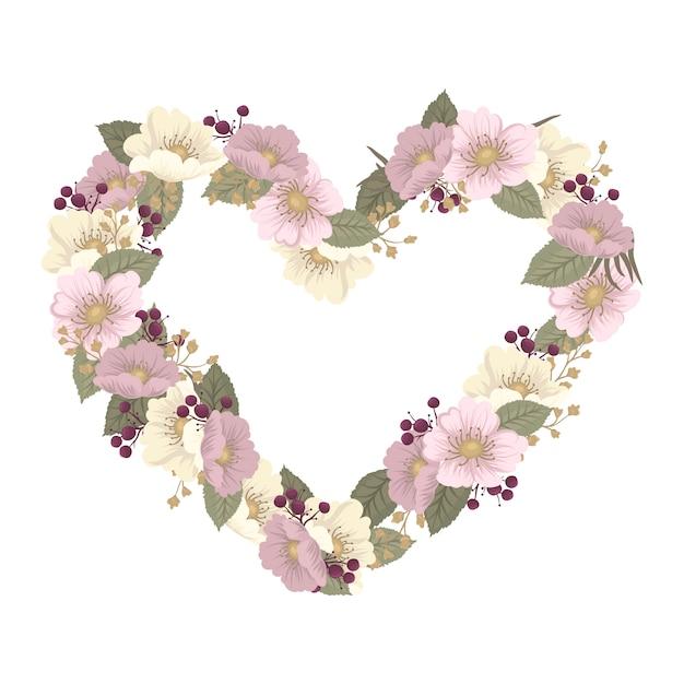 Ilustración de vector con un corazón perfecto para el día de san valentín, cumpleaños, guarda la invitación de la fecha vector gratuito