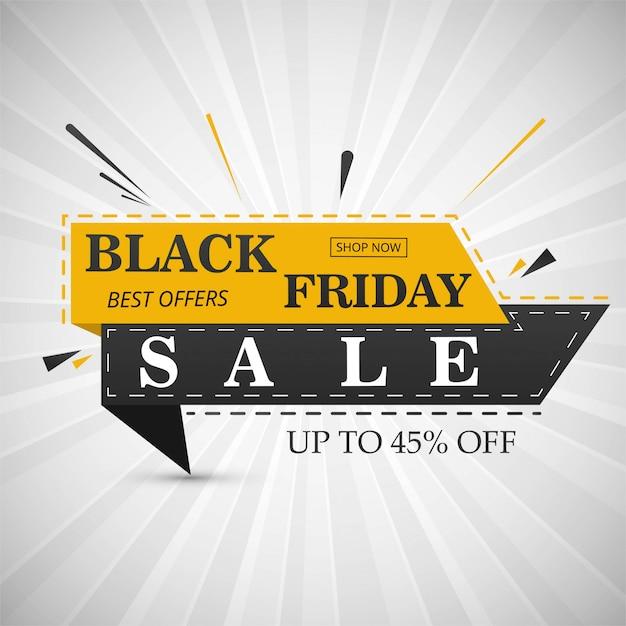 Ilustración de vector de diseño de diseño de banner de venta de viernes negro Vector Premium