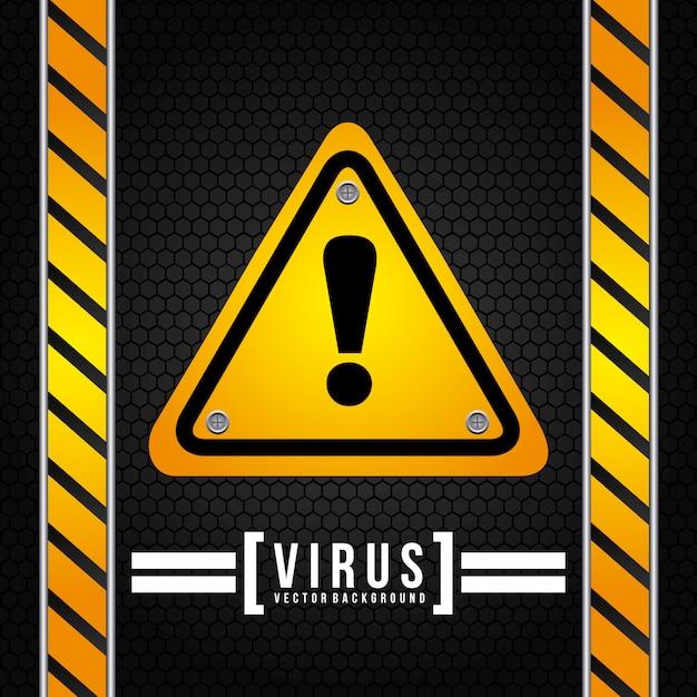 Ilustración de vector de diseño gráfico de virus vector gratuito