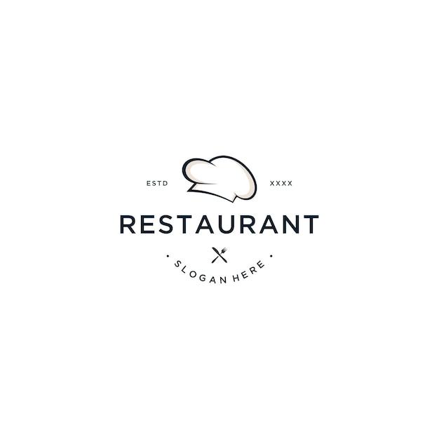Ilustración de vector de diseño de logotipo de restaurante Vector Premium