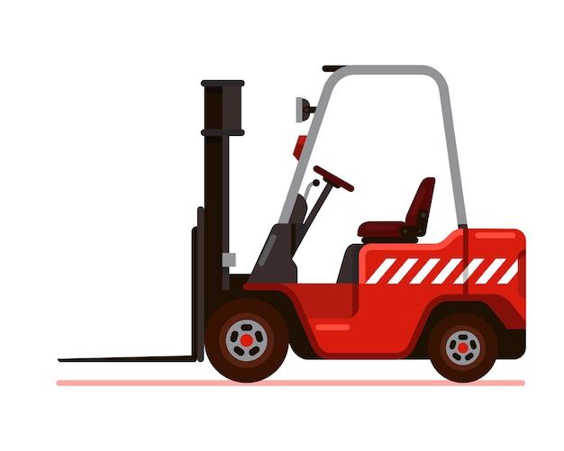 Ilustración de vector de estilo plano de carretilla elevadora roja ...