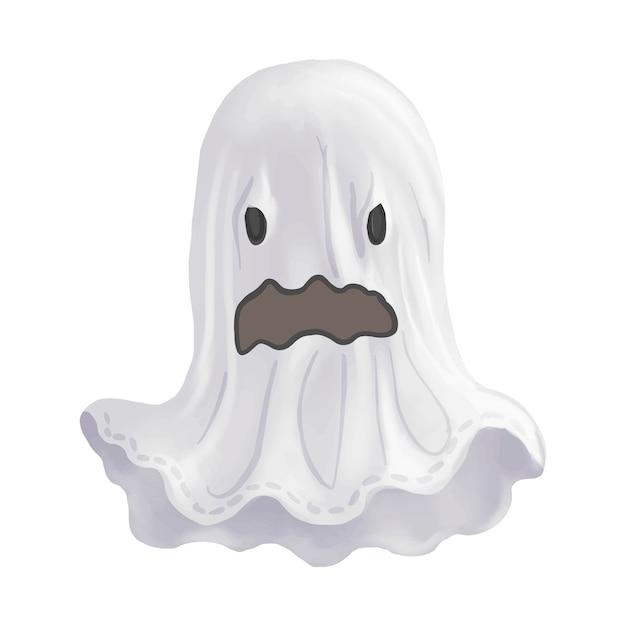 Ilustración de un vector de icono fantasma para halloween vector gratuito