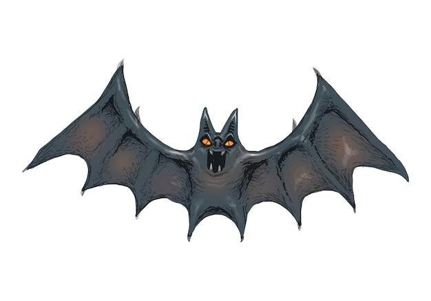Ilustración de un vector de icono de murciélago para halloween vector gratuito