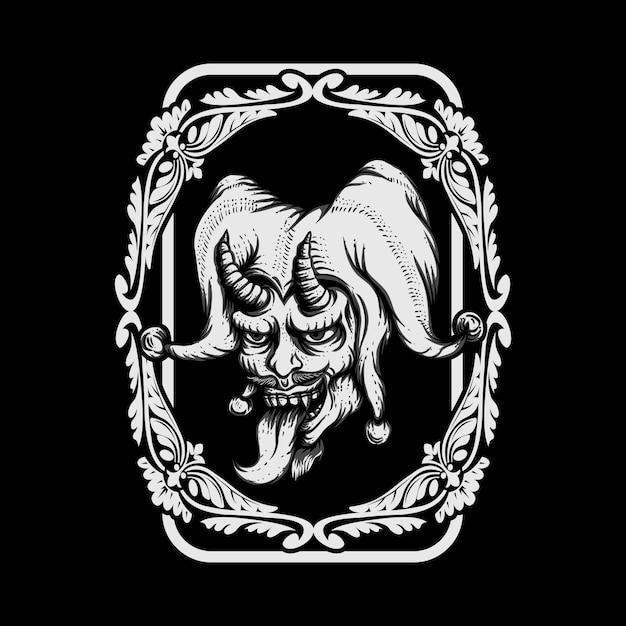 Ilustración de vector de joker evil Vector Premium
