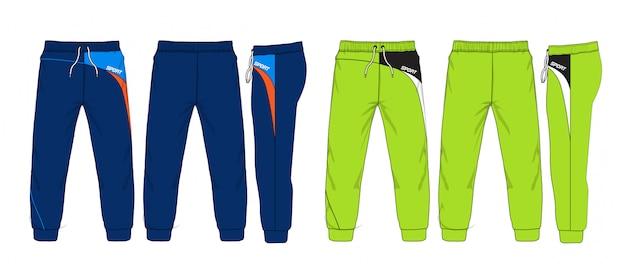 Ilustración de vector de pantalones deportivos. Vector Premium