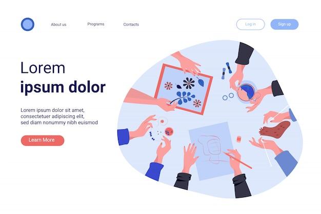 Ilustración de vector plano creativo taller hecho a mano vector gratuito