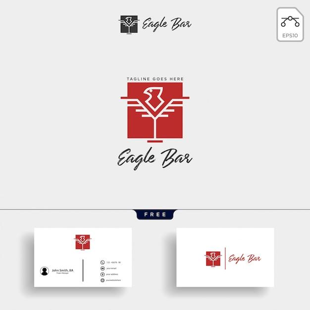 Ilustración de vector de plantilla de logotipo de barra de águila premium Vector Premium
