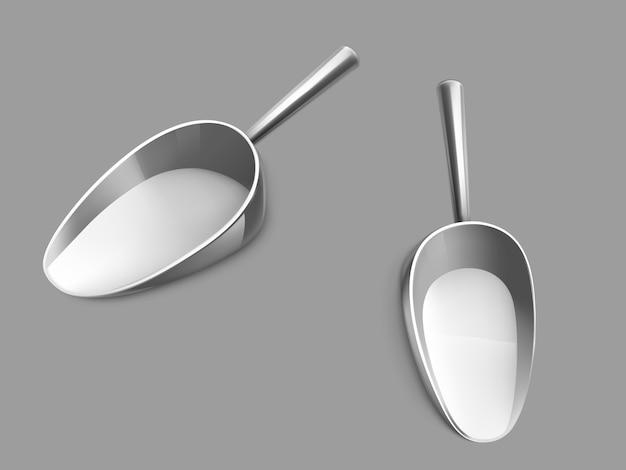 Ilustración de vector realista de cuchara metálica vacía vector gratuito