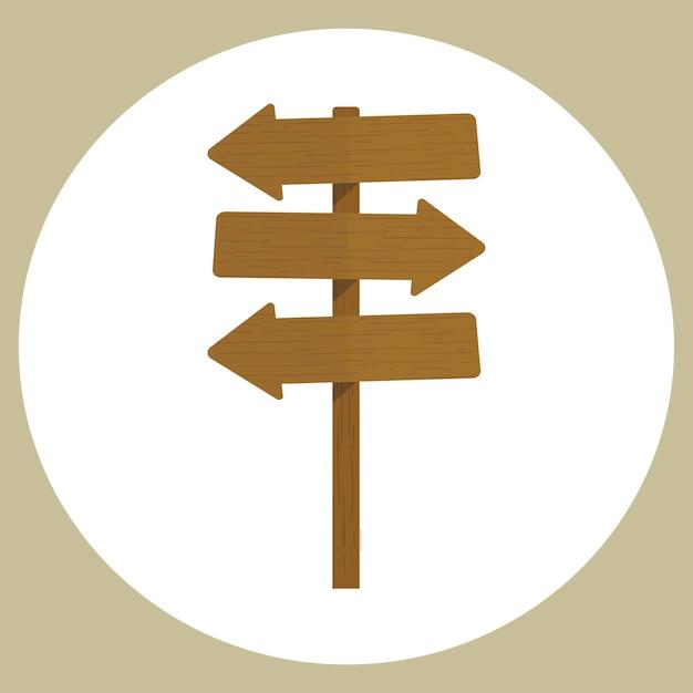 Ilustración del vector de signo en blanco vector gratuito
