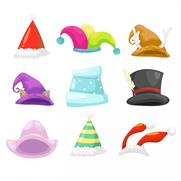 Ilustración de vector de sombrero de colección Vector Premium