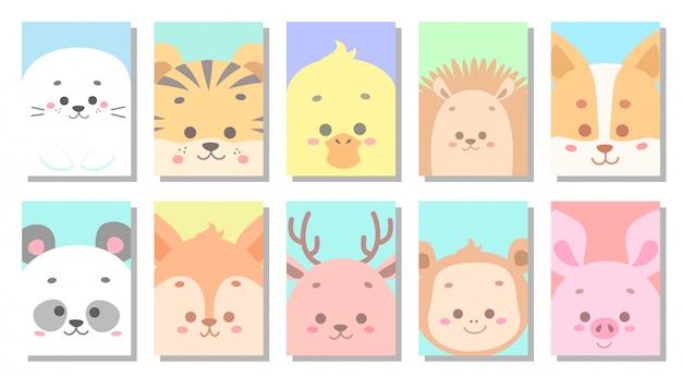 Ilustración de vector de tarjeta de felicitación de bebé lindo bebé Vector Premium
